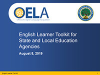 English Learner ToolKit Webinar Cover